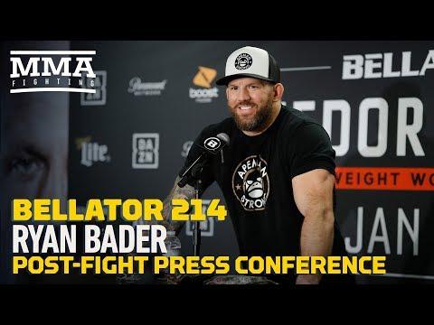 Bellator 214: Ryan Bader Post-Fight Press Conference – MMA Fighting