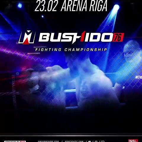 KOK FIGHT SERIES & #MMA BUSHIDO FIGHTING CHAMPIONSHIP 23.02.2019 – RIGA ‼️ Tickets https://www.bilesuserviss.lv/…/bushido76-fighting-champions…  LIVE www.kokfights.tv/ FightBox