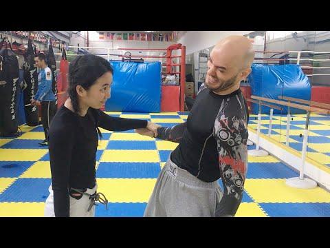 MMA Fighters Try Women's Self-Defense: episode #10 Wrist Control!