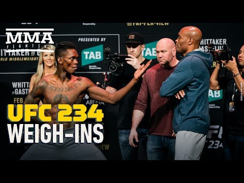 UFC 234 Weigh-In Highlights – MMA Fighting