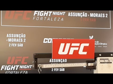 UFC Fortaleza Official Weigh-in Live