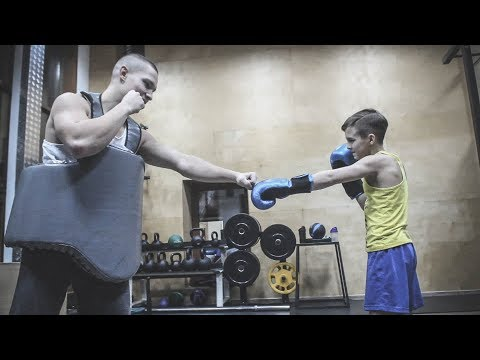 Amazing Muscle Kid Training MMA And Fighting With Big Man