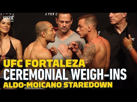 UFC Fortaleza: Jose Aldo vs. Renato Moicano Weigh-In Staredown – MMA Fighting