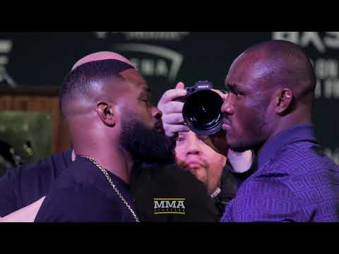 UFC 235: Tyron Woodley vs. Kamaru Usman Presser Staredown – MMA Fighting