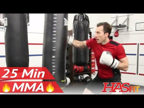 25 Min MMA Heavy Bag Workout – MMA Training Exercises at Home MMA Workout Routine – UFC Workout BJJ