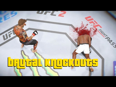 EA Sports UFC 2 – Best Brutal Knockouts Compilation #1