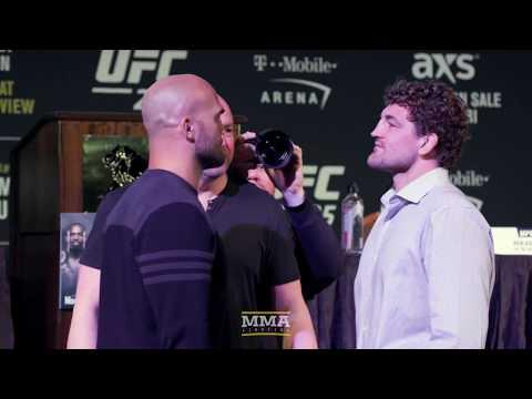 UFC 235: Robbie Lawler vs. Ben Askren Presser Staredown – MMA Fighting