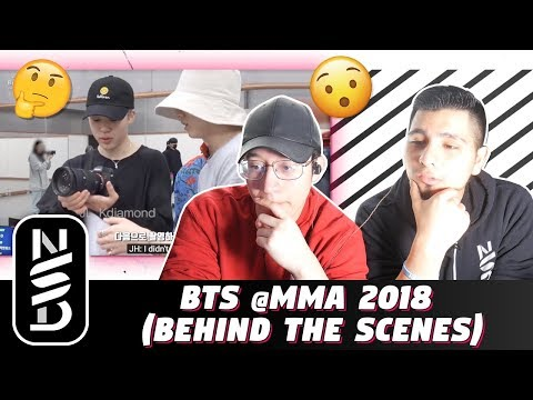 GUYS REACT TO BTS @MMA 2018  (Behind the Scenes)