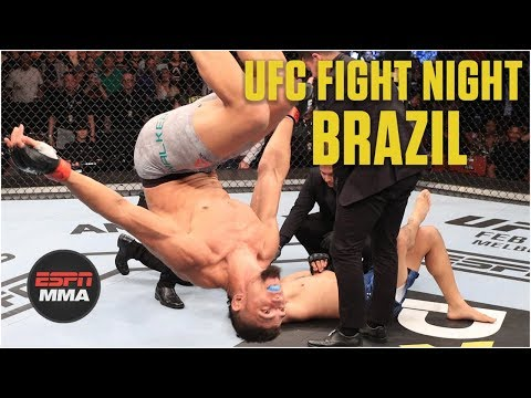 Johnny Walker celebrates electric 15-second TKO by doing the worm | MMA Highlights