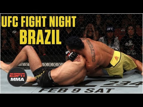 Charles Oliveira overcomes eye poke to beat David Teymur by submission | MMA Highlights