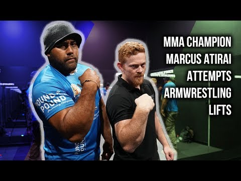 MMA Champion Attempts Armwrestling Lifts