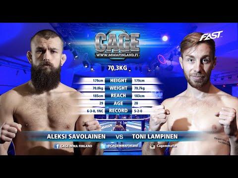 CAGE 45: Aleksi Savolainen vs Toni Lampinen Full Fight MMA