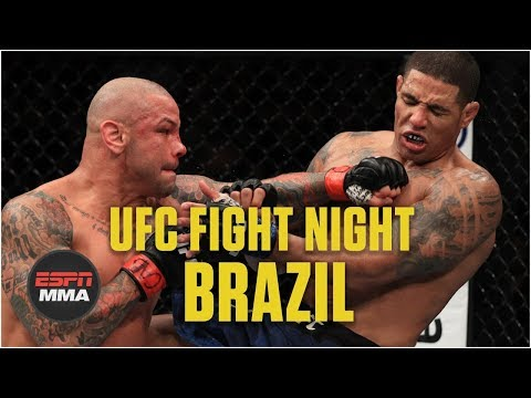 Thiago Alves defeats Max Griffin via split decision | UFC Fight Night: Brazil Highlights