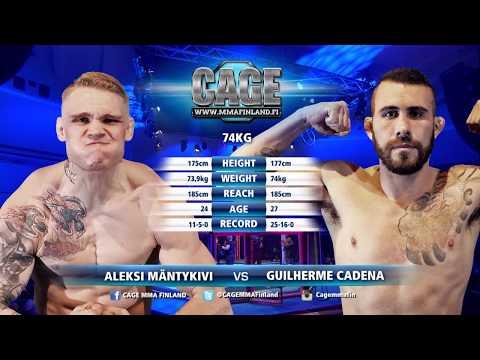 CAGE46 Aleksi Mäntykivi vs Guilherme Cadena Full Fight MMA