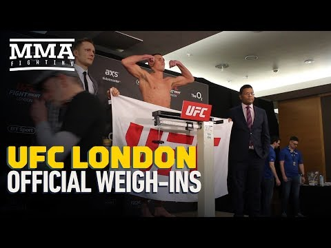 UFC London Official Weigh-In Highlights – MMA Fighting