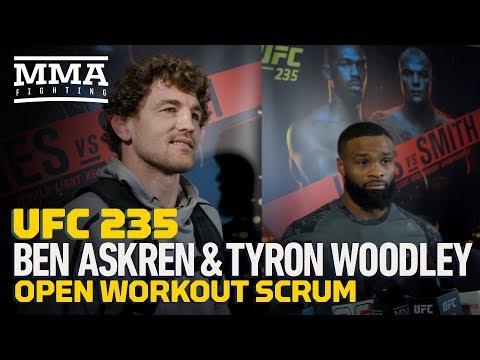 UFC 235: Tyron Woodley, Ben Askren Open Workout Media Scrum – MMA Fighting