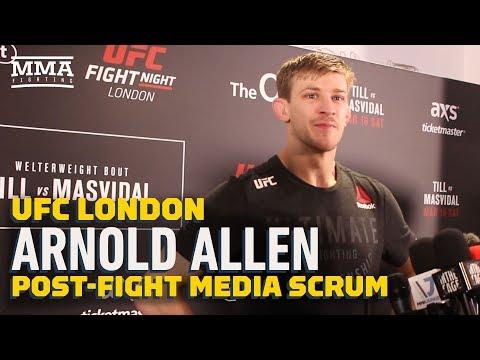 Arnold Allen Praises 'Hero' Father Following UFC London Win – MMA Fighting