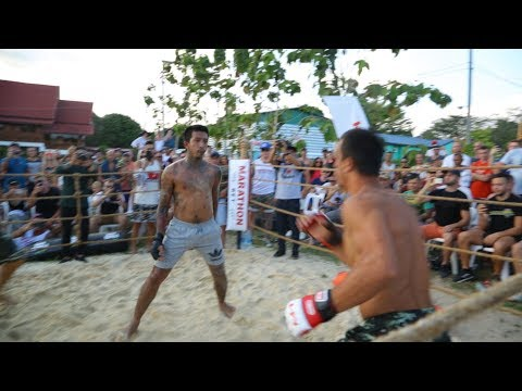 MUAY THAI DANCER vs PRO MMA FIGHTER !!! Crazy Fight !!!