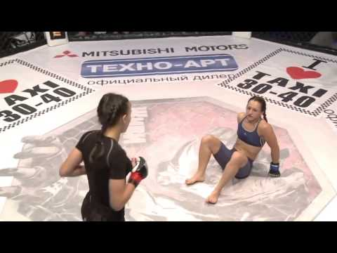 Awesome MMA Fight Girls Ljudmila Pilipchak Ukraine   Alena Rassohina Ukraine