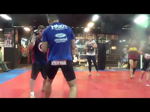 Korean Top Team MMA Training Trip Some Sparring & Grappling 40 yrs old have other vids too w kicks