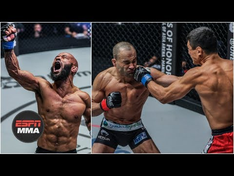 Demetrious Johnson wins, Eddie Alvarez loses ONE Championship debut | Highlights | ESPN MMA